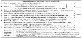 W4 Worksheet How Many Exemptions Do I Claim On My W 4 Form Tandem Hr