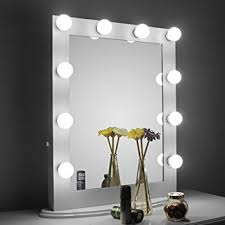 Tabletop Vanity Mirrors With Lights Amazon Com Aoleen White Hollywood Makeup Mirror With Light Vanity