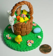 edible delights all sizes fondant easter basket cupcake topper flickr photo
