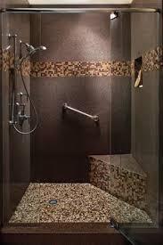bathroom ideas with tile large charcoal black pebble tile border shower accent https www
