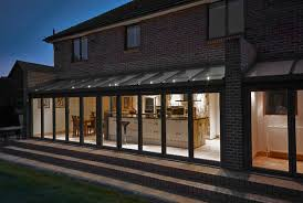 kitchen extensions ideas open plan kitchen and dining room taken from outside at time