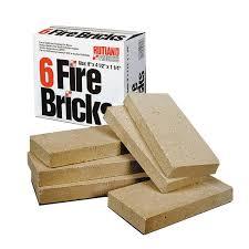 rutland duty fire bricks 9 by 4 1 2 by 1 1 4 inch amazon ca