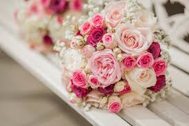 wallpaper wedding bouquet pink roses baby pink hd 5k flowers
