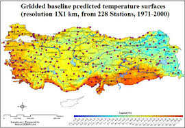 temperature map turkey modelling temperature map is produced by arcgis demircan