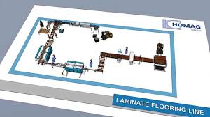 Sawing Laminate Flooring Sawing And Profiling Line For Laminate Flooring Säge Und