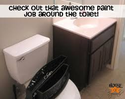 How To Paint Bathroom Tile How To Paint Around A Toilet