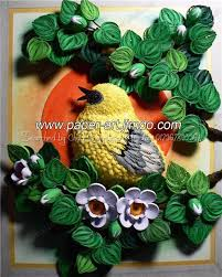 paper quilling birds tutorial quilled bird scene by www paper art jimdo com quilling