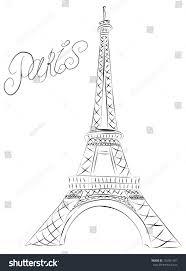 sketch eiffel tower paris france stock illustration 102561491
