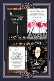 wedding invitations printable printable new year s wedding invitations