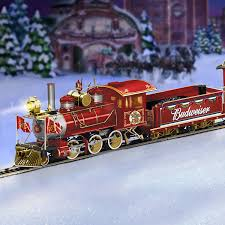 hawthorne village halloween amazon com exclusive budweiser illuminated holiday express train