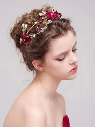 floral headdress evening wedding prom floral headdress stylewe