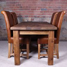 chair solid wood casual rustic dining room table and chair set