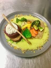 amarante cuisine flan de betterave sauce safran pilaf d amarante crème de yogourt