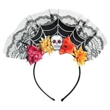 day of the dead headband women s day of the dead spiderweb headband target