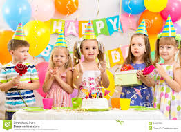 two cheerful clowns birthday children bright stock photo children celebrating birthday stock photo image of home