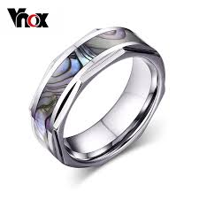 aliexpress buy vnox 2016 new wedding rings for women aliexpress buy vnox cool shell men wedding ring tungsten