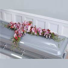 how to make a casket spray wylie flower and gift pink and magenta cross casket spray same day