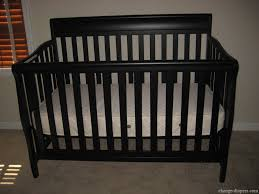 Espresso Convertible Crib by Lajobi Crib Guard Rail Baby Crib Design Inspiration