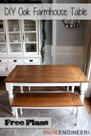 how to build an easy table diy solid oak farmhouse table free easy plans