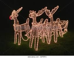 Christmas Reindeer Garden Decorations by Christmas Garden Lights Stock Photos U0026 Christmas Garden Lights