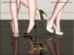 christian louboutin lucifer bow stiletto shoes