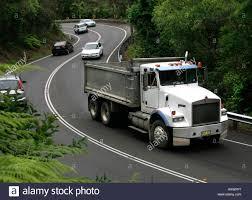 kenworth trucks australia kenworth truck in heavy traffic on winding s bend road near avalon