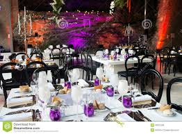 event tables decoration wedding dinner party stylish stock