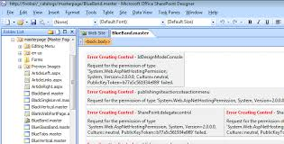 office sharepoint designer 2007 error creating when using microsoft office sharepoint