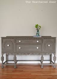 a driftwood buffet with white knobs antique buffet buffet and