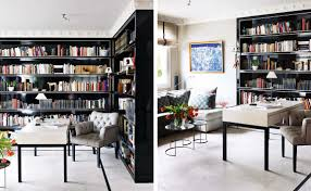 Library Office by Black White Yellow Black Library Office Inspiration