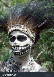 Halloween Skeleton Dance Gorokapapua New Guinea September 16 Woman Stock Photo 91961678