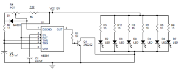 pwm led dimmer using ne555 circuit and block diagrams