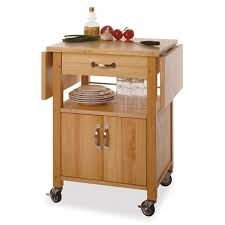 Red Barrel Studio Anthem Kitchen Cart With Wooden Top  Reviews - Kitchen cart table