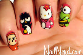 nail nerd nail art for nerds hello kitty character nails