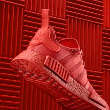 redcolor adidas nmd triple black and red color boost pack soleracks