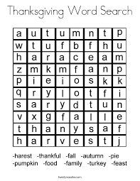 thanksgiving word search coloring page twisty noodle
