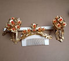 japanese hair ornaments vintage japanese hair comb and hairpin set geisha kanzashi faux