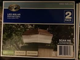 led l post light outdoor solar copper led post light 2 pack amazon com