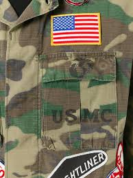 Army Uniform Flag Patch Htc Hollywood Trading Company Military Patch Jacket Green Men