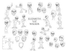 elizabeth walker model sheet advanceddefense deviantart