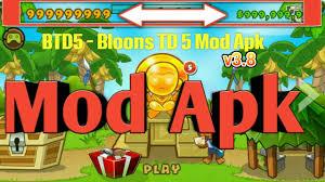 bloons td 5 apk bloons td 5 v3 8 mod hack apk no root