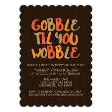 gobble thanksgiving dinner invitation zazzle