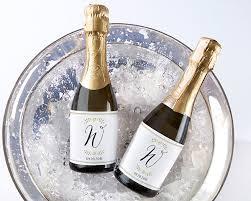 personalized mini wine bottle labels classic wedding kate aspen