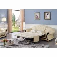 Pull Out Sleeper Sofa by Luxury Button Tufted Ivory Italian Leather Pull Out Sleeper Sofa