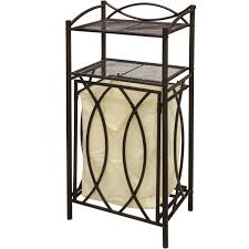 Quad Laundry Hamper by Pull Out Laundry Hamper And Shelf Metal Clothes Storage Organizer