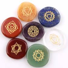 engraved stones assorted 7 pieces lot engraved pocket palm stones