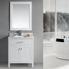 london 30 inch single sink white bathroom vanity set 18 inch