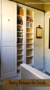 how to make a kitchen pantry cabinet pantry between the studs live from julie u0027s house