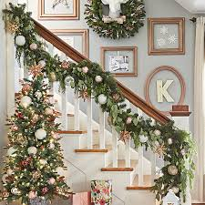 Banister Decorations For Christmas Diy Christmas Garland Ideas