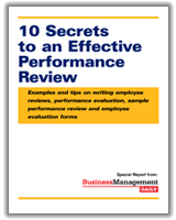 secrets to an effective performance review examples and tips on